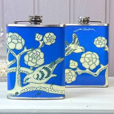 Jan Constantine China Blue Hip Flask