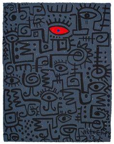 Galerie Sanaa | Kunst van hedendaagse Afrikaanse en Nederlandse kunstenaars | Victor Ekpuk