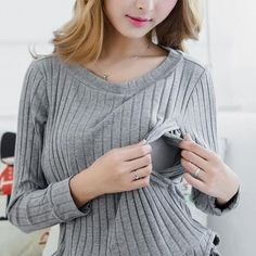 Breastfeeding Cotton Tee Breast Feeding Clothes Side Slit T Shirt  Maternity Long Sleeve Nursing Clothing Top M-XXL $20.88   => Save up to 60% and Free Shipping => Order Now! #fashion #woman #shop #diy  http://www.mybreastfeeding.net/product/breastfeeding-cotton-tee-breast-feeding-clothes-side-slit-t-shirt-2016-maternity-long-sleeve-nursing-clothing-top-m-xxl/