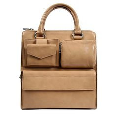 Nude Soft Leather Wallet Tote - DKNY - $300