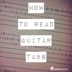 how to read guitar tabs this is really clearly written. Great article