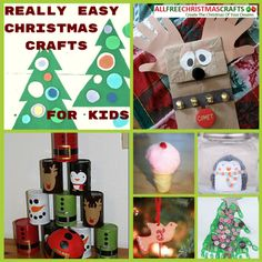 37 Really Easy Christmas Crafts for Kids | You won't find better ideas to keep the kids busy.