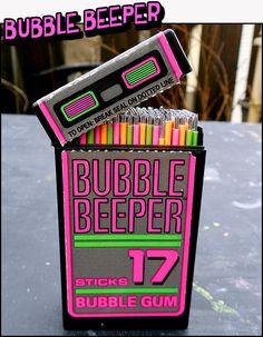 Crazy '90s Bubble Gum! | Dinosaur Dracula! #80s #bubblebeeper