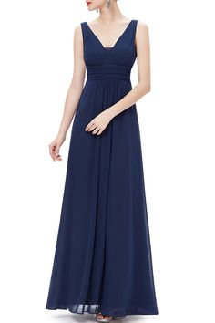 Empire Waist Pleated Maxi Dress