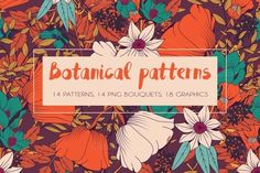 Botanical patterns and graphics by Blue Lela Illustrations on @creativemarket
