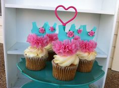 Ballerina Tutu Cupcake Toppers for Birthday Party by JeanKnee, $12.75