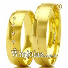 e0d3455eac9 Aliança de noivado e casamento Aliança em ouro amarelo 18k 750 Peso  8  gramas o