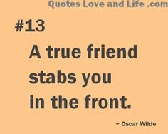If a stabbing must take place ...