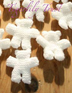 Knitting Patterns - Tigerlily Trust Tiny Teddy Pattern