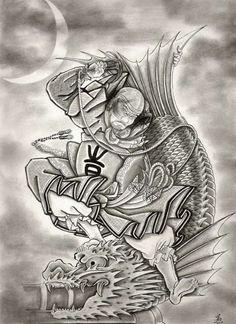 Japanese Heros Tattoo Design Ideas 8