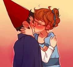 torifalls : 30 Day OTP Challeng: Day 5 - KissinghE RE IT IS. OH MY GOD WHY DID I MAKE IT SO SMALLand these are nt sad kissies its like a reunion th ing or smth no sad under my roof - over the garden wall wirt beatrice infinite eyerolls