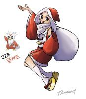 225.Delibird by tamtamdi pretty much a Santa but cool anyways