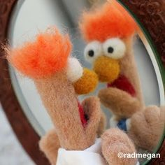 radmegan: in words and pictures: Beaker: The Most Easily-Frightened (Needle-Felted) Muppet Ever.