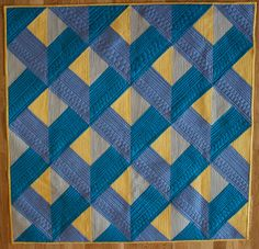 "~free pattern ~  ""Dimensions"" by Angela Walters at Quilting Is My Therapy.  The attic windows are set on point."
