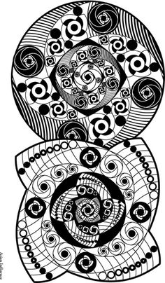 Asian Influence Adult Coloring Page