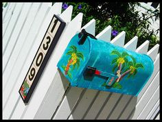 colorful mailbox in key west