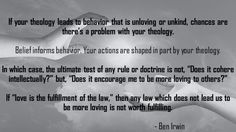 theology and love || Source:  http://www.patheos.com/blogs/exploringourmatrix/2015/07/theology-and-behavior.html
