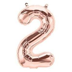 Rose Gold Number 2 Balloons, Small, Balloon One First Birthday balloon Alphabet or Number Foil Balloon TWO Helium Number Balloons, Rose Gold Number Balloons, One Balloon, Letter Balloons, Balloon Columns, Helium Balloons, Foil Balloons, Helium Tank, First Birthday Balloons