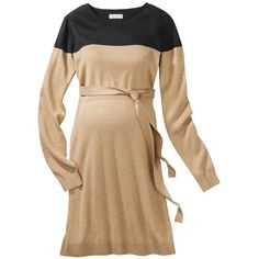 Liz Lange for Target Maternity Long-Sleeve ColorBlock Sweater Dress -... (€28) ❤ liked on Polyvore featuring maternity