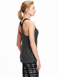 Women's Elastic-Strap Burnout Tanks