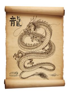 Dragon Scroll by artstain on DeviantArt