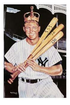 In 1956 at the age of 24, Mickey Mantle had one of the greatest seasons of any baseball player in Major League Baseball history, by winning the Triple Crown.  Mantle led the majors with a .353 batting average, 52 home runs, and 130 RBI and was the most powerful switch hitter in baseball.  The Triple Crown year was Mantle's greatest season, won three Most Valuable Player awards, led the Yankees to 12 World Series in his 14 seasons, and was a 16 time All-Star.