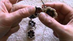 bracciale all'uncinetto con perline variante