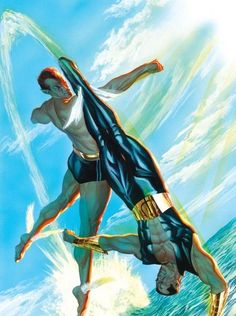 Namor by Alex Ross: Namor of the Invaders battling his future self
