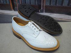 Trickers size 5 1/2 White Calf  Bourton  Derby Country Brogue Shoe Dainite Sole