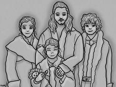 Bard, Bain, Sigrid and Tilda: Family by Krystal91.deviantart.com on @deviantART