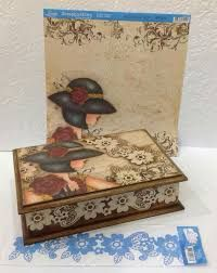 Resultado de imagen para Cofres Cajas Madera Mdf Decoupage Box, Decoupage Vintage, Decorative Wooden Boxes, Shabby Chic Boxes, Pretty Box, Altered Boxes, Painted Boxes, Vintage Box, Diy Box