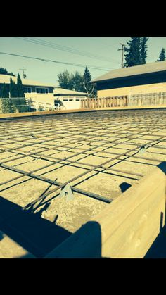 "Prepared Slab Floating garage pad 12"" wall with 6"" curb"