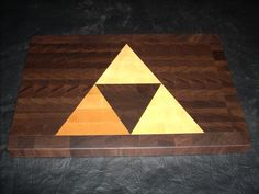 Triforce End-Grain Cutting Board by 1337motif on Etsy