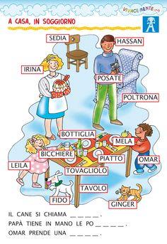 Italian Courses, Italian Vocabulary, Italian Words, Italian Language, Learning Italian, Montessori, Illustration, Teaching, Photos