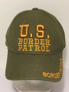 e9f7e1c554db3 Details about U.S. US BORDER PATROL EMBROIDERY HAT BASEBALL CAP ADJUSTABLE  ONE SIZE FITS ALL