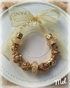 PANDORA.  Gorgeous Gold Charms ♡ Not much left in the gold designs.  Snap them up now!
