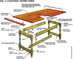 Colonial Tavern Table. 18th century table.
