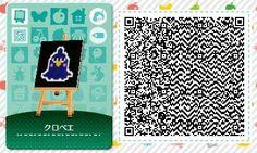 Animal Crossing: Happy Home Designer villager pattern QR code [X]