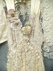 Love the vintage dress with roses