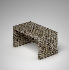 Ivory Vegetal Design Bench_Random Toasted