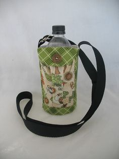 Water Bottle Holder Sling//Walkers Insulated by TheSewingMenagerie, $16.00