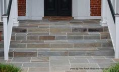 Lovely steps.... Lighter stone to match the steps from the house
