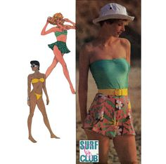 1980s Misses' Bikini Swimsuit Tube Top & by PatternAndStitch, $12.00
