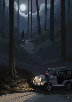 Creeperwolf by ~slow-ride on deviantART (Derek Hale / Stiles Stilinski, Sterek, Tyler Hoechlin, Dylan O'Brien, Teen Wolf Fanart)