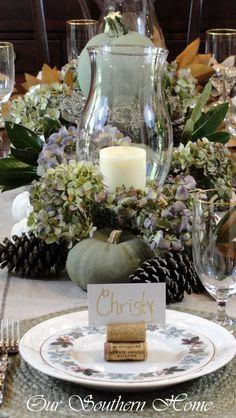 Simple Thanksgiving tablescape using what you have!