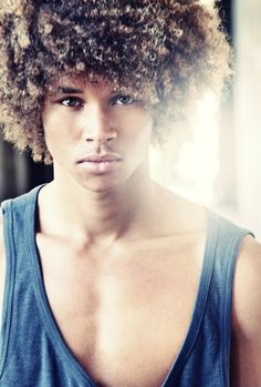 Afro Long Hairstyle - Hairstyle Ideas for Men Natural Hair Men, Pelo Natural, Natural Hair Styles, Natural Curls, Natural Beauty, Natural Man, Going Natural, Black Men Hairstyles, Afro Hairstyles