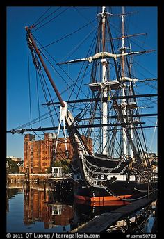 USS Constitution, Boston Historical Park. Boston, Massachussets, USA