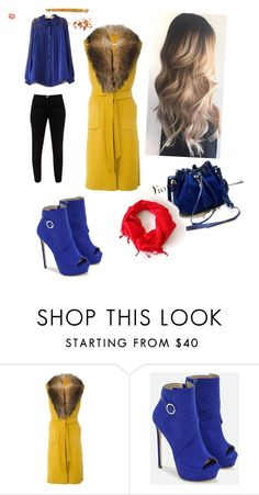 """Untitled #33"" by maidaaskerova ❤ liked on Polyvore featuring P.A.R.O.S.H., JustFab and Ted Baker"