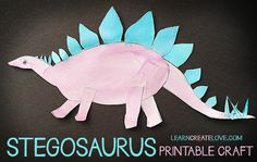 { Printable Dinosaur Craft: Stegosaurus }