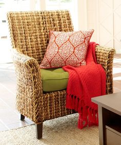 Wicker seating like this natural Banana Armchair is not only durable and versatile, but it's also easy to lift on moving day